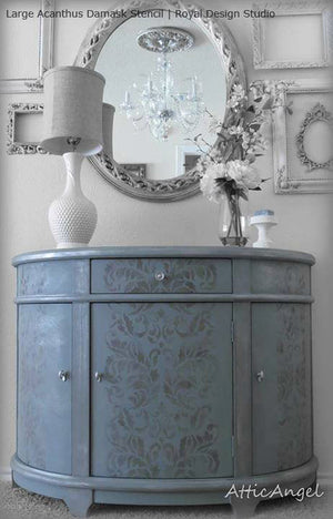 Acanthus Damask Wall Stencil