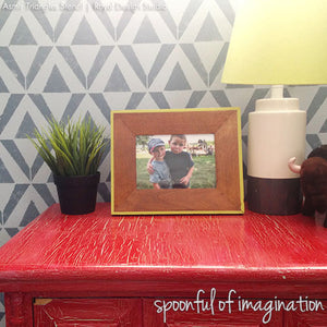 Boys Room Decor Ideas using Geometric Stencils for Cute Wall Decor