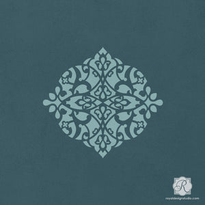 Detailed Designs for Elegant Arts and Crafts - Alcazar Ornament Craft Stencils - Royal Design Studio