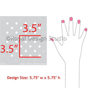 Furniture & Craft Stencil Polka Party - Royal Design Studio Stencils - www.royaldesignstudio.com