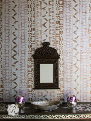 Decorate your home with exotic tribal pattern with African Wall Stencil designs