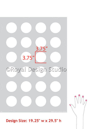 Modern Circle Shapes Polka Dot Wall Stencils - Royal Design Studio Stencils - www.royaldesignstudio.com