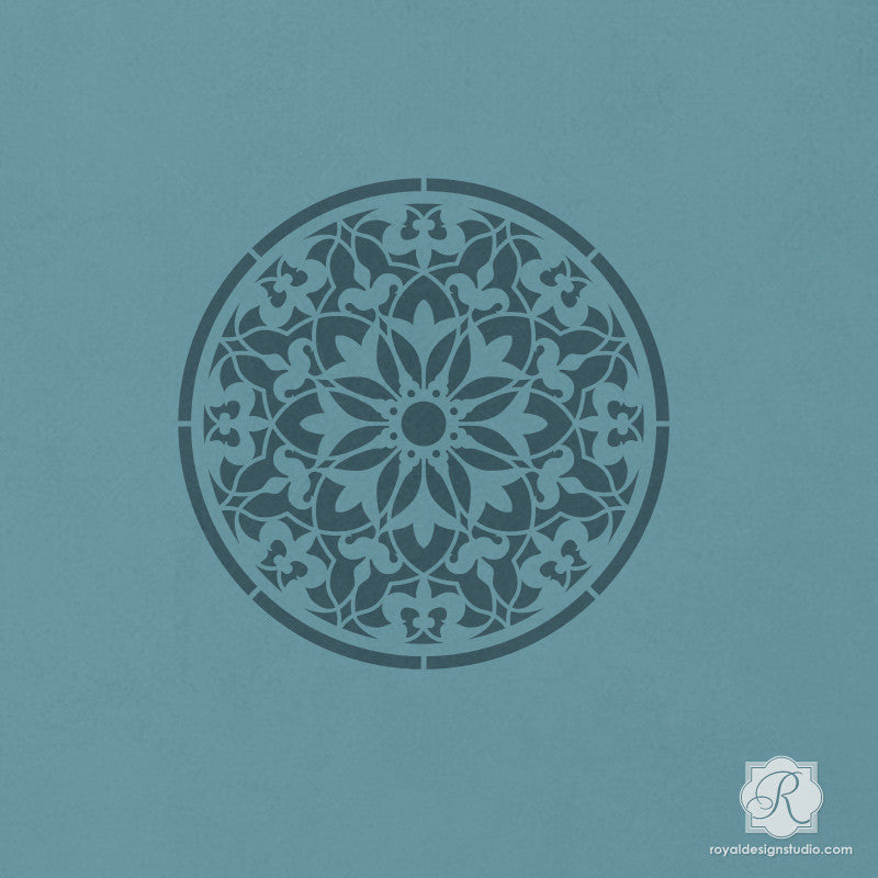 Detailed Circle Shape with Moroccan Pattern for DIY Craft Projects - Amira Ornament Craft Stencils - Royal Design Studio