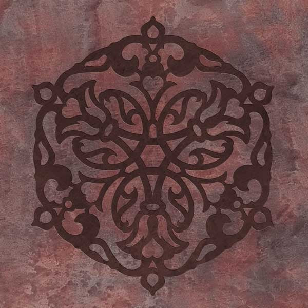 Ankara Impression B Stencil Design - Exotic Layered 3D Stenciled Wall Art - Royal Design Studio