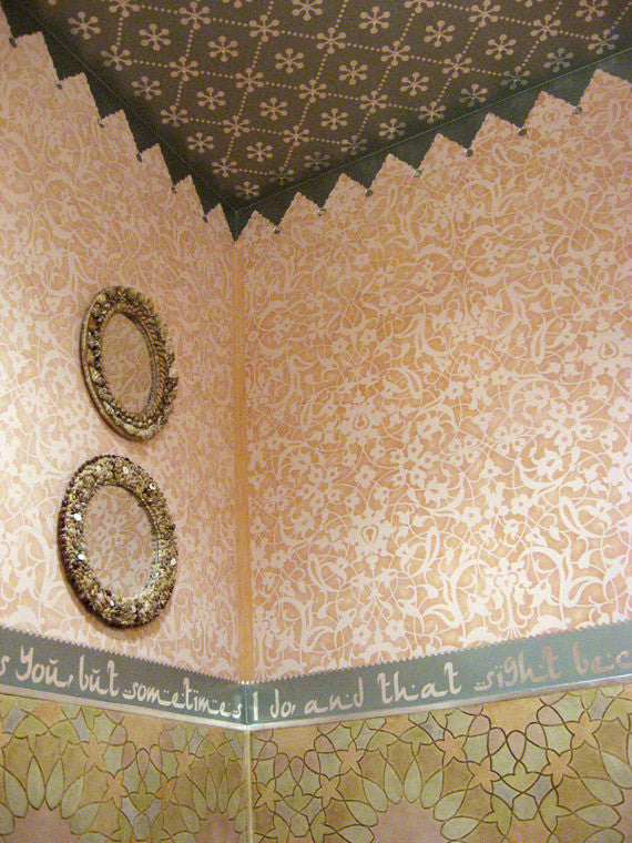 Intricate and Detailed Allover Wall Stencils - Moroccan Stencils for Exotic Decorating - Royal Design Studio