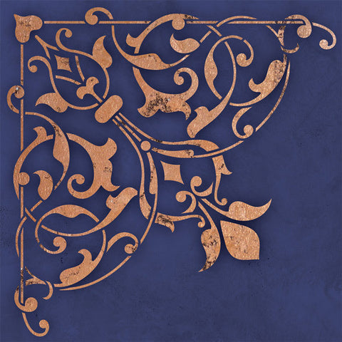 Ceiling Stencils Arabesque Corner Stencil Royal Design
