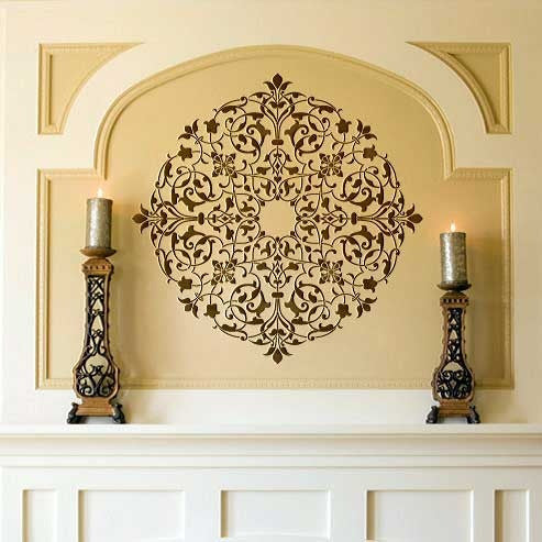 diy decor ideas using intricate and exotic home decor moroccan ceiling medallion stencils royal - Ceiling Medallion