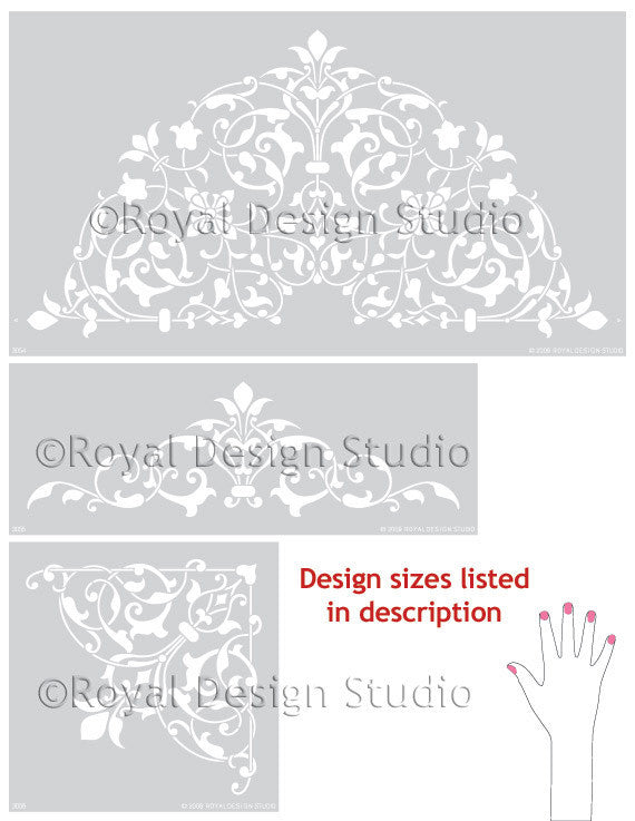 Intricate and Exotic Home Decor - Moroccan Ceiling Stencils - Royal Design Studio