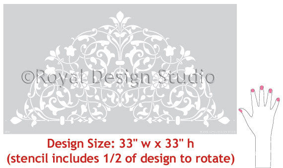 DIY Ceiling Decor using Ceiling Medallion Stencils - Intricate and Exotic Home Decor - Moroccan Ceiling Medallion Stencils - Royal Design Studio