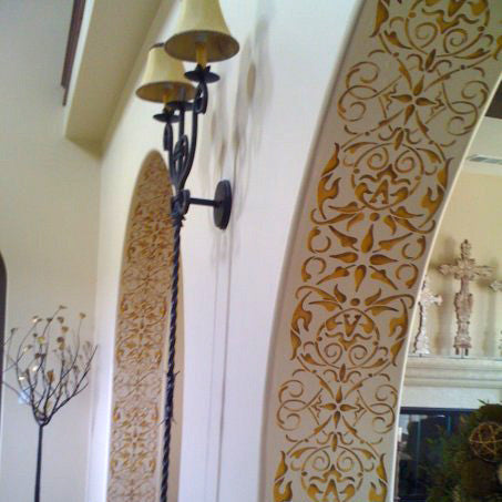 Living Room And Entry Way Ideas   Intricate And Detailed Arabesque Border  Stencils   Classic Border ... Part 95