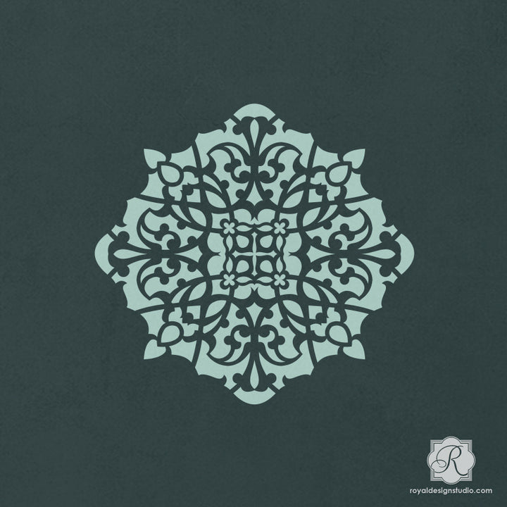 Crafting with Stencils and Moroccan Designs - Asma Ornament Craft Stencils - Royal Design Studio