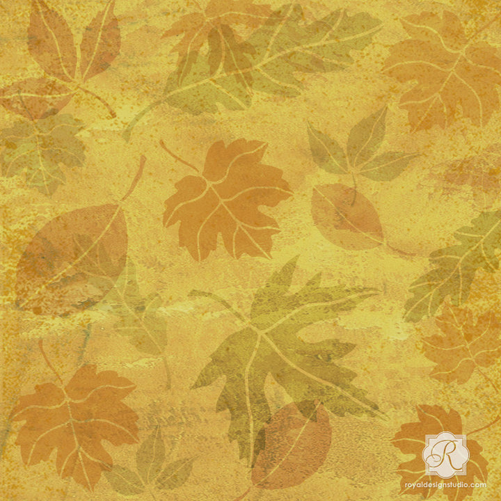 Fall Leaves Stencil Set