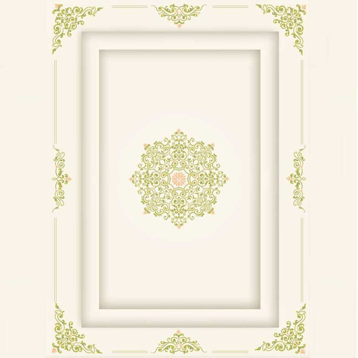 Ceilng Mediallion, Corners, and Borders - Classic European and Victorian Designs for DIY Home Decor - Ceiling Stencils Avignon Ceiling Medallion Stencils - Royal Design Stuido