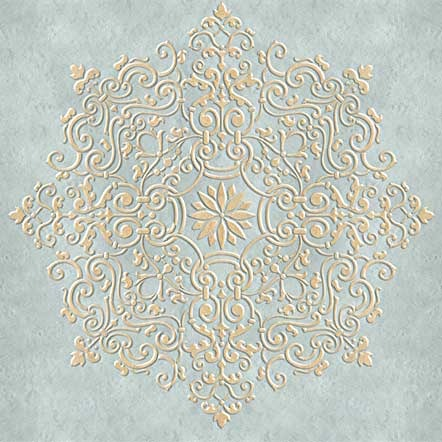 DIY Ceiling Medallions - Classic European and Victorian Designs for DIY Home Decor - Ceiling Stencils Avignon Ceiling Medallion Stencils - Royal Design Stuido