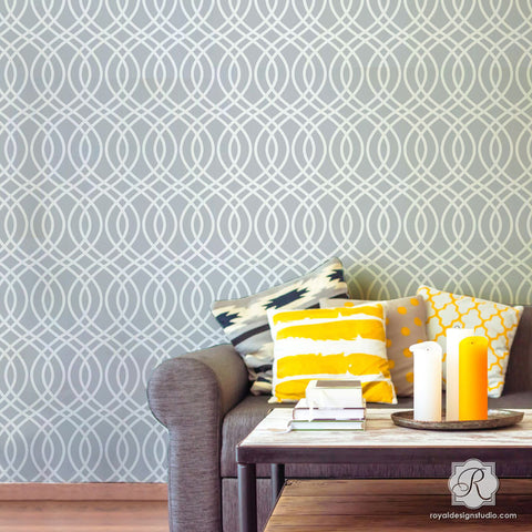 Beautiful Teardrop Trellis Bari J Wall Stencil