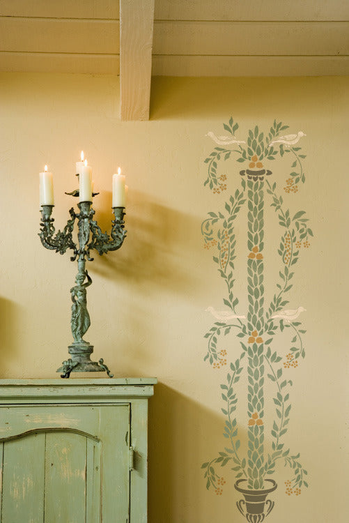 Wall Stencils Pompeii Stencil Botanical Column Royal