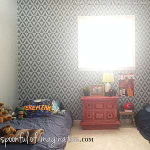 Painting Home Decor with Wall Stencils - Geometric Stencils for Boys Room Decor