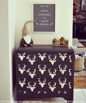 Buck Forest Bonnie Christine Furniture Stencil