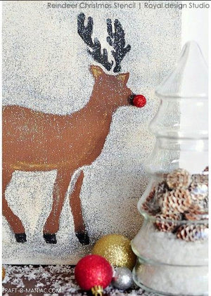 Christmas & Holiday Reindeer Crafting DIY Project - Fabric and Furniture Stencils