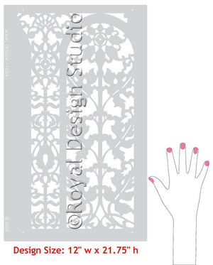 Carved Arch Panel Classic Border Stencils designs