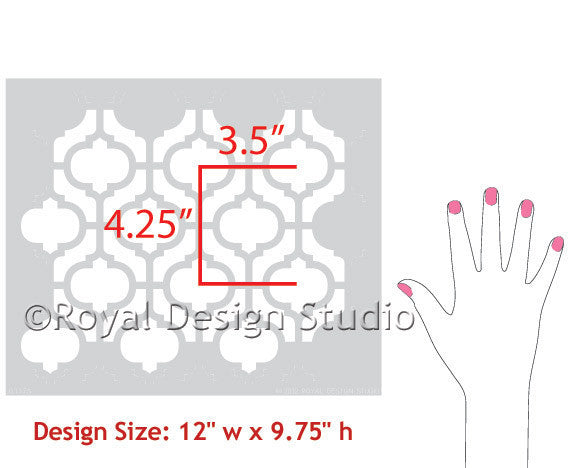 Casbah Trellis Moroccan Designs Furniture Stencils - Royal Design Studio Furniture Transformations