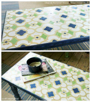 Painted Furniture DIY Projects with Moroccan Patterns and Stencils