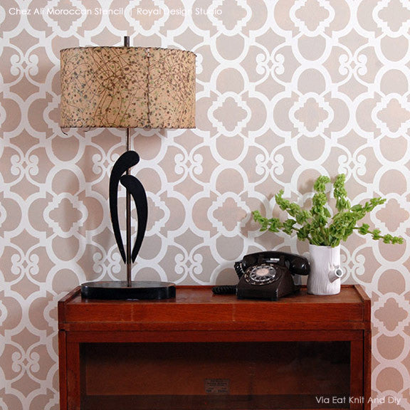 decorate your home with moroccan wall decor chez ali moroccan stencil by royal design studio - Design Stencils For Walls