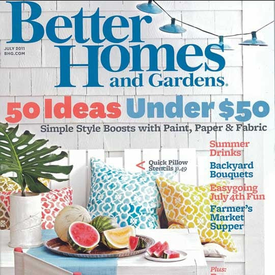 Better Homes and Gardens feature Royal Design Studio and Chez Ali Moroccan Stencils