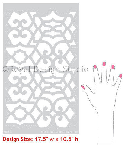 Exotic Patterns and Moroccan Designs on Painted Furniture Stencils - Royal Design Studio