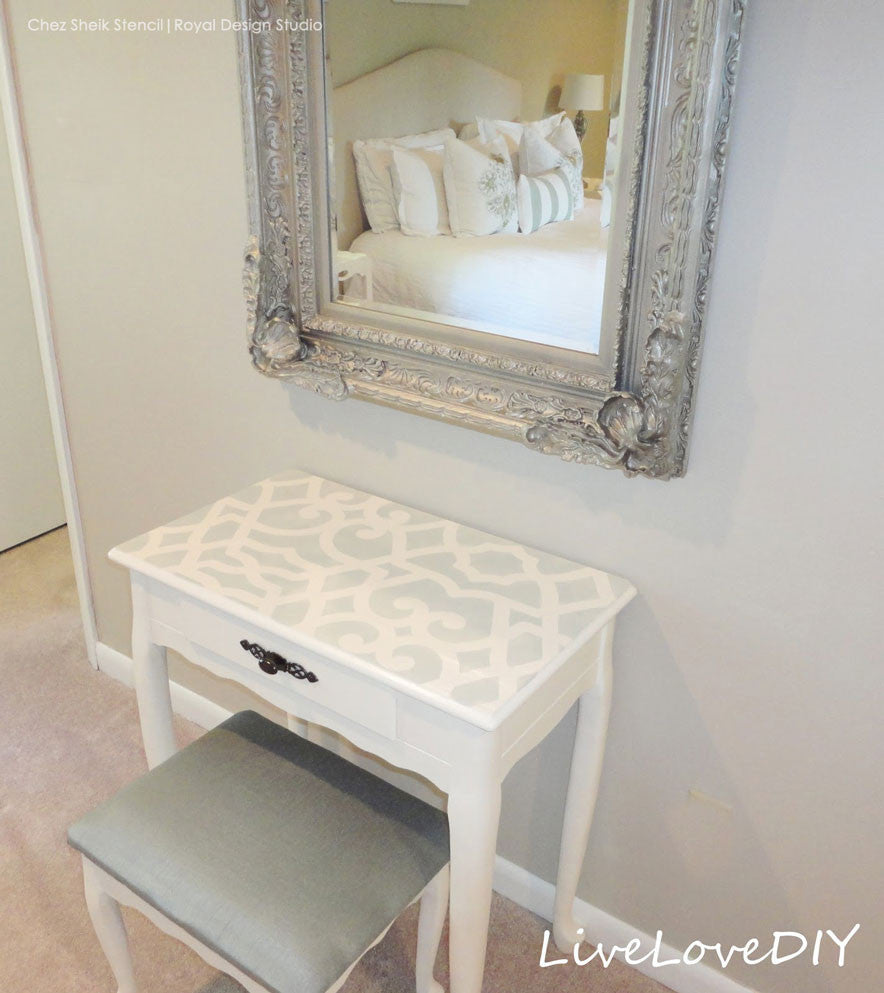 Chez Sheik Furniture Stencils by Royal Design Studio - Paint Table Tops and More with Exotic Pattern