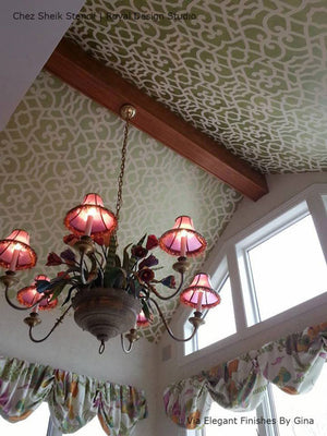 Chez Sheik Moroccan Stencils to Paint the Ceiling - Royal Design Studio