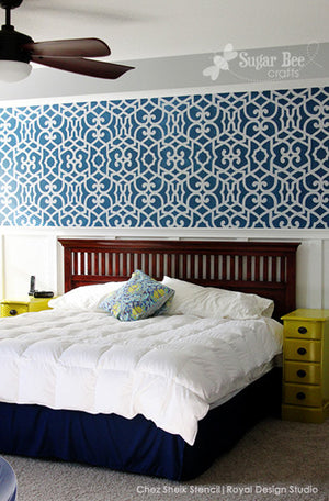 Chez Sheik moroccan wall Stencils by Royal Design Studio