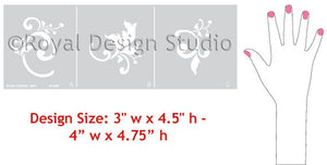 Classic Asian Decor - Chinois Elements Wall Stencils patterns