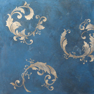 Decorating walls with Oriental wall art stencils - Chinois Leaves Wall Stencil