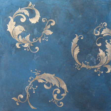 Decorating Walls With Oriental Wall Art Stencils   Chinois Leaves Wall  Stencil
