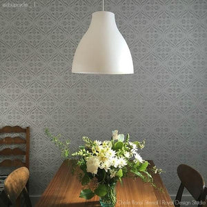 Large Designs for Wallpaper Decor Look - Trellis Wall Stencils