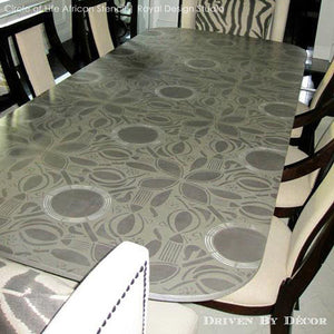 Stenciling a Table Top with Tribal Floral Patterns - Circle of Life African Stencil by Royal Design Studio