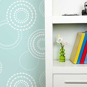Geometric Circles Stenciled on Walls - Royal Design Studio