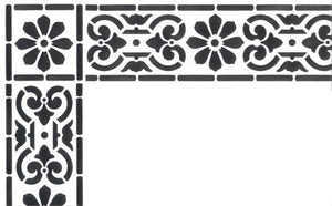 Border Stencils Classical Corner Stencils for Painting
