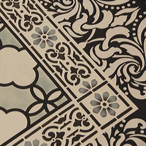 Border Stencils | Classical Border & Corner on stenciled floorcloth