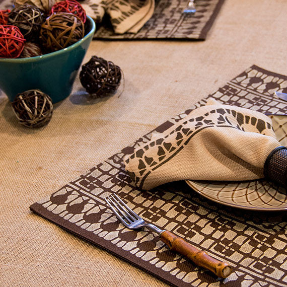 Paint Tribal Designs on Placemats, Fabric, and Furniture with African Craft Stencils
