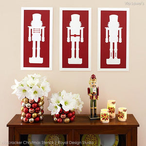 Nutcracker Christmas Stencil