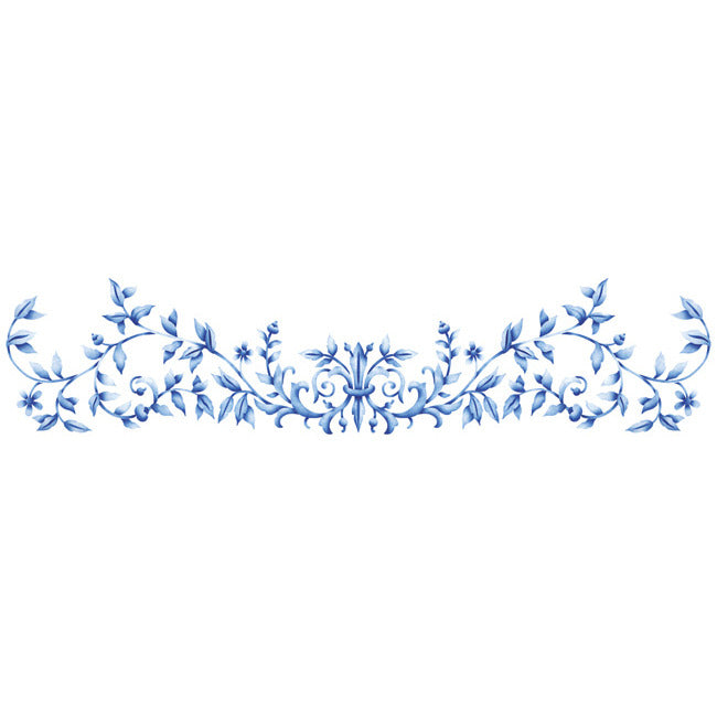 Floral Embroidery Crown Stencil for DIY Wall Art - Royal Design Studio