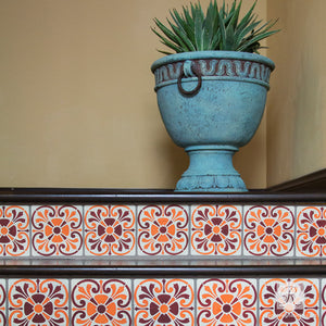 Stenciled Stairs with Furniture and Craft Stencils - Royal Design Studio
