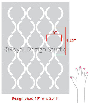 DIY Painting Projects using Large Damask Art Deco Pattern Wall Stencils - Royal Design Studio