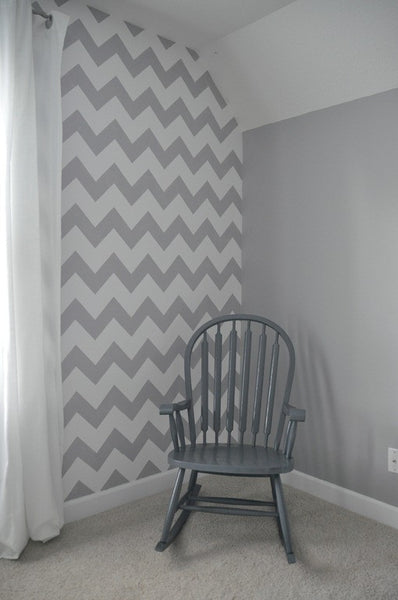 Modern stencils modern chevron wall stencils royal for Chevron template for painting