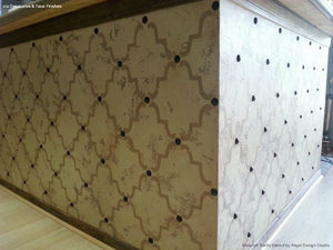 DIY Designer Furniture Makeover - Moorish Trellis Furniture Stencils - Royal Design Studio