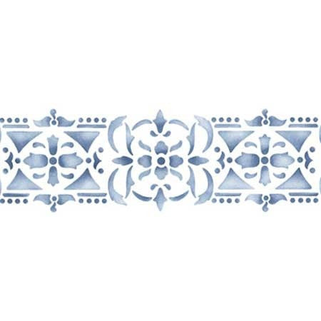 Delicate Detailed Wall Border Stencils - Royal Design Studio