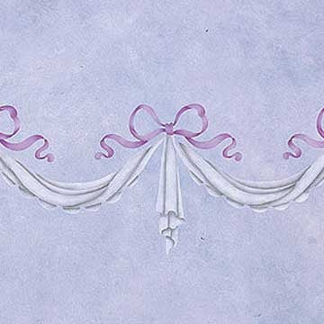 Stencils | Small Delicate Drapery Furniture Stencils