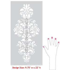 Delicate Floral Furniture Stencils for Doors, Cabinets, and Wall Art- Royal Design Studio